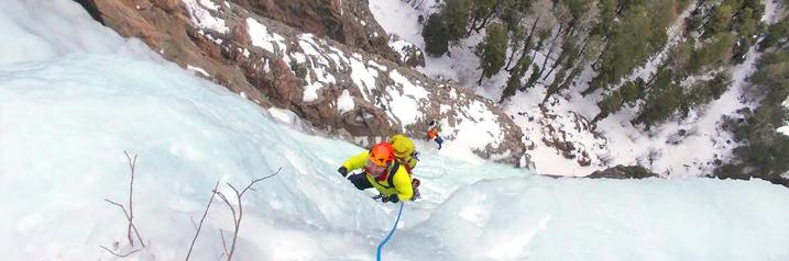 Ice Climber in Telluride Colorado